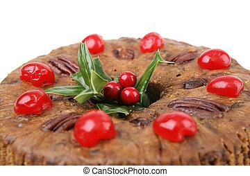 closeup, natal, fruitcake