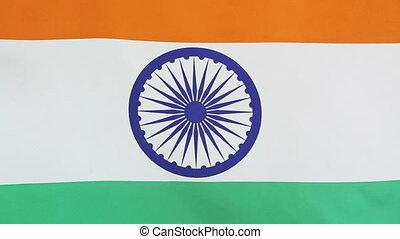 Closeup national flag of India