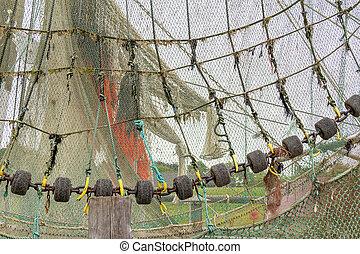 closeup, nettó, halászat