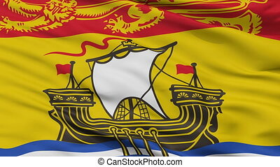 Closeup New Brunswick city flag, Canada - New Brunswick...