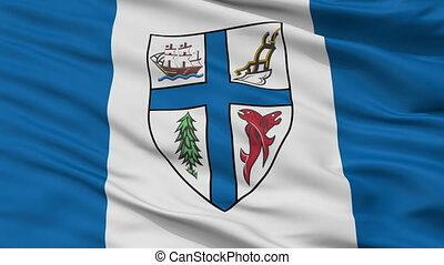 Closeup New Westminster city flag, Canada - New Westminster...