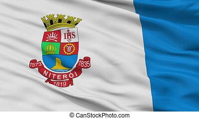 Closeup Niteroi city flag, Brasil - Niteroi closeup flag,...