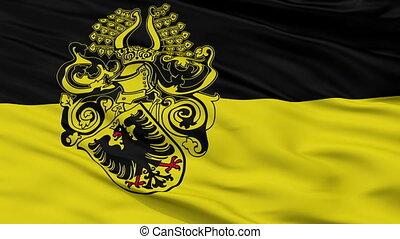 Closeup Nordhausen city flag, Germany - Nordhausen closeup...