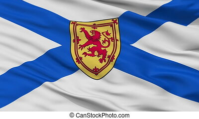 Closeup Nova Scotia city flag, Canada - Nova Scotia closeup...