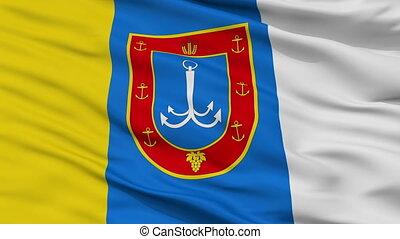 Closeup Odesa Oblast flag, Ukraine - Odesa Oblast closeup...