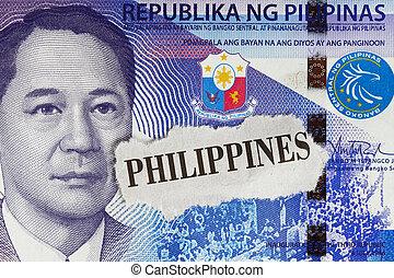 Closeup of 100-peso bills