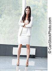 closeup of a beautiful business woman.