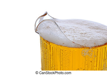 Closeup of a Beer Pitcher - Closeup of a full Beer pitcher ...