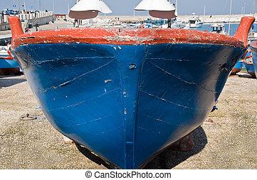 Closeup of a boat.