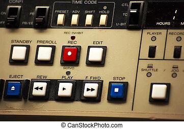 broadcast vtr - closeup of a broadcast vtr