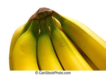 closeup of a bunch of bananas