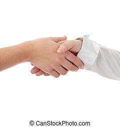 Closeup of a business hand shake