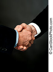 Closeup of a business handshake - Successful business people...