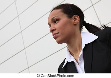 Closeup of a businesswoman