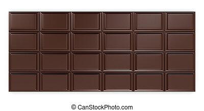 chocolate bar - closeup of a chocolate bar (3d render)