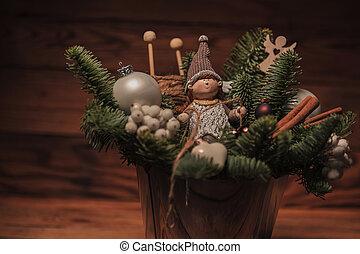 closeup of a christmas decoration