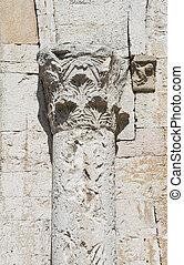Closeup of a column.