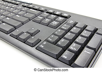 Closeup of a computer keyboard