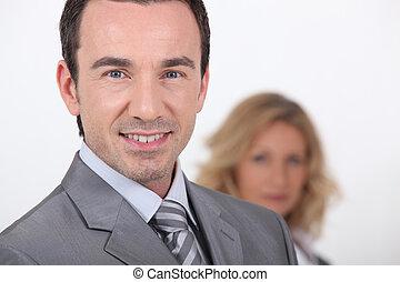 Closeup of a confident businessman