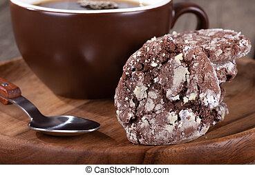 Closeup of a Delicious Chocolate Fudge Cookie