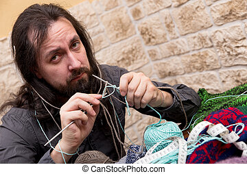 closeup of a desperate man