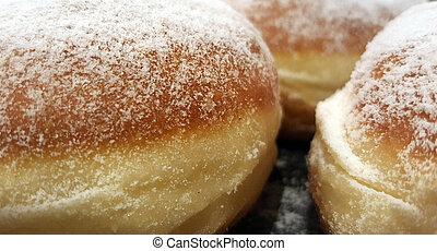 Closeup of a donuts