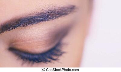 Closeup of a female eye