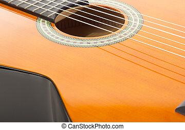 Closeup of a guitar
