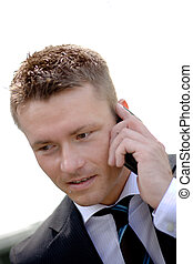 Handsome Corporate Man With Cellular Phone