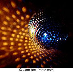 closeup of a mirrorball - closeup of a mirrorball on a white...