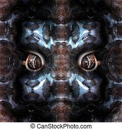 mystical creature - Closeup of a mystical creature in fur