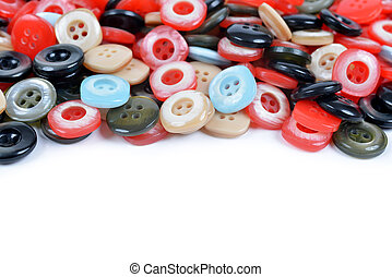 Closeup of a pile of sewing buttons