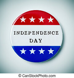 pin button with the text independence day