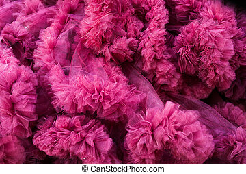 closeup of a pink tulle background