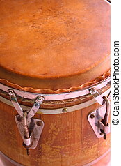 conga drums - Closeup of a set of caribbean style conga...