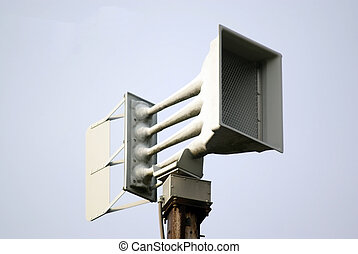 severe weather siren - Closeup of a severe weather siren...