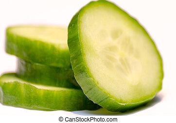 Closeup of a Sliced Cucumber
