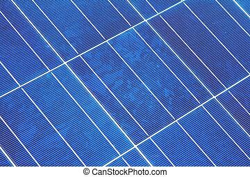 Closeup of a Solar Panel Module Diagonal