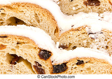 Closeup of a stollen