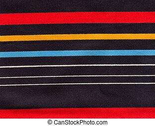 a striped fabric