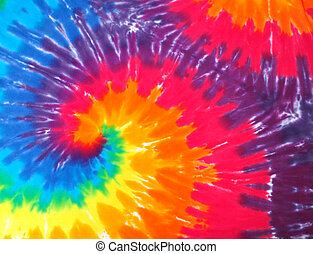 Tie dye shirt abstract - Closeup of a Tie dye shirt abstract