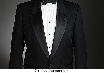 Closeup of a Tuxedo - Closeup of a Black Tuxedo Jacket....