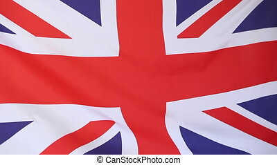 Closeup of a United Kindom flag