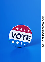vote badge for the United States election