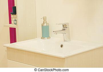 wash basin in a modern bathroom