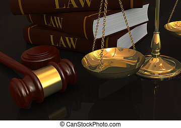concept of law and justice - closeup of a weight balance ...