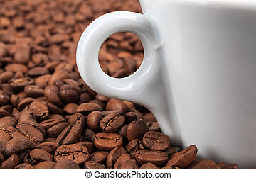 coffee beans in background