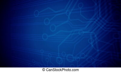 Closeup of Abstract Circuit Board.