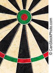 closeup of an dartboard
