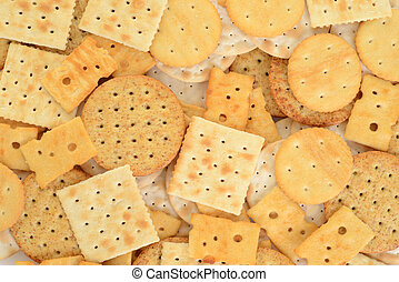 assorted cracker background